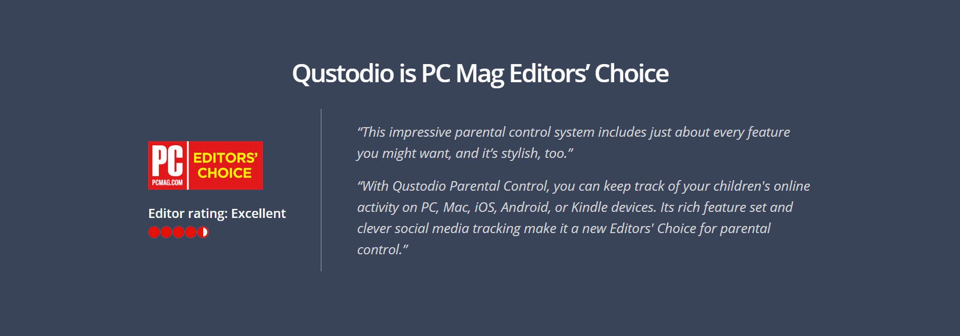 PCMag Editors Choice Qustodio