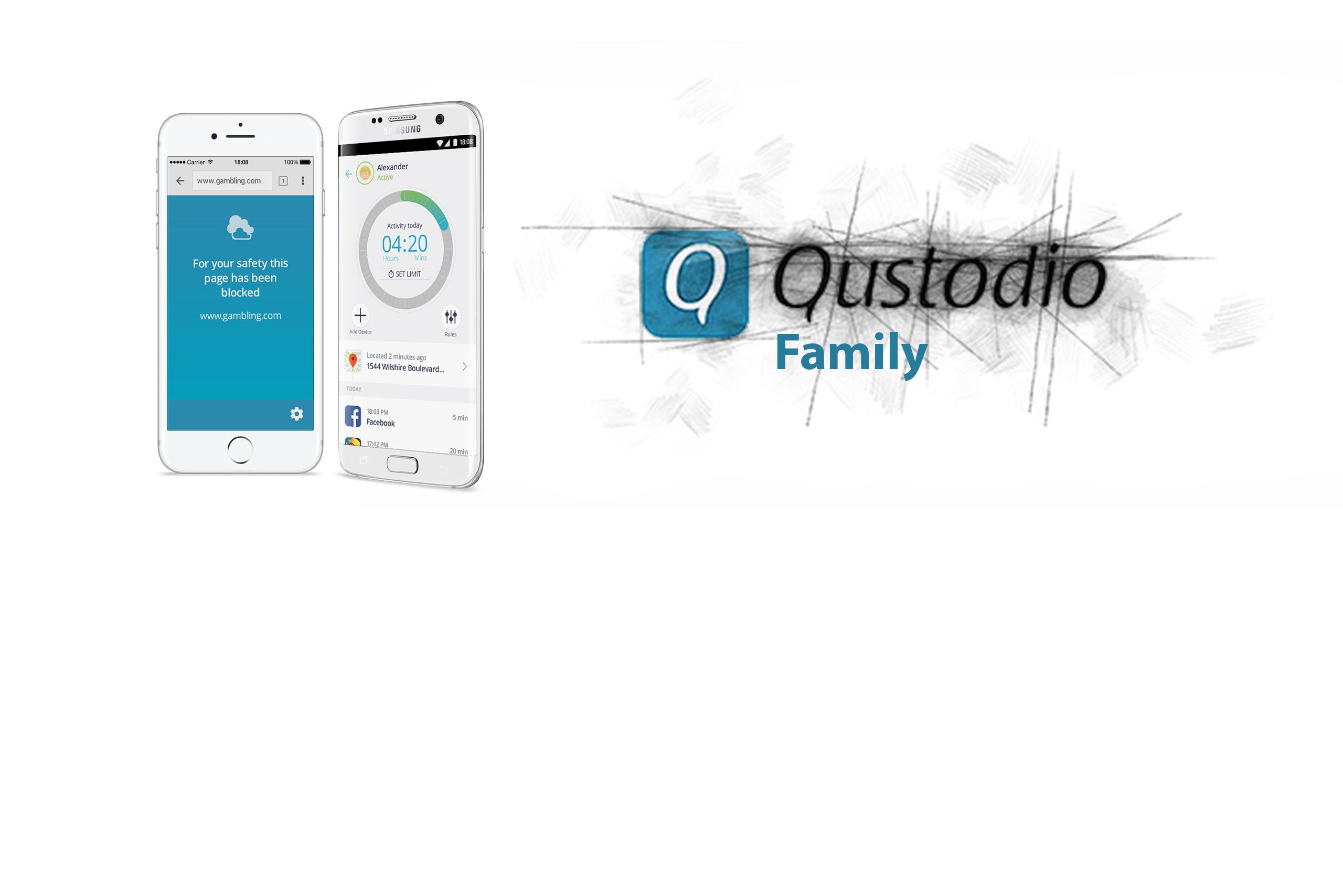 Qustudio - Solutions Bannner Family
